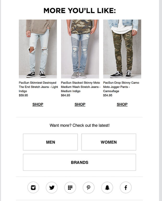 pacsun cart abandonment email - Copy