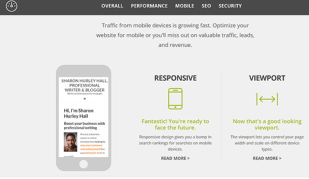website grader mobile seo audit tool