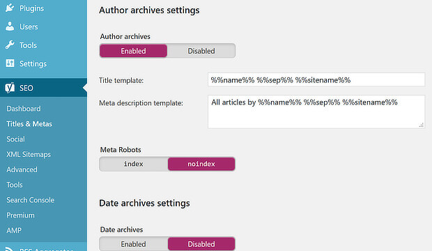 seo audit - fix duplicate content with yoast