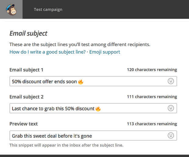 15 mailchimp subject line variations