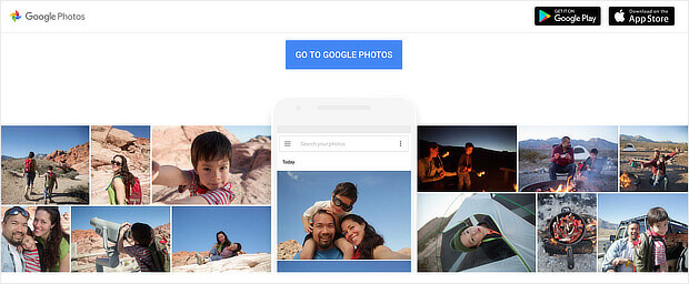 free content marketing tools - google photos