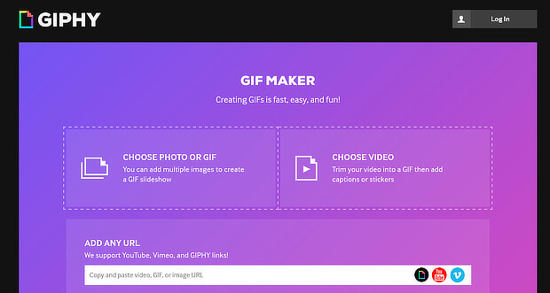 giphy is a visual content creation tool