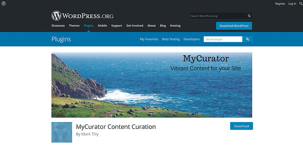 content curation tools for wordpress - mycurator