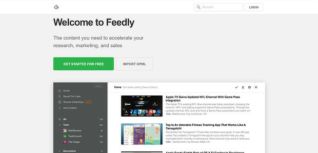 do automated content curation with feedly