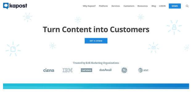 enterprise content curation tools - kapost
