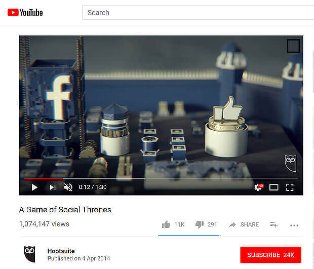 hootsuite game of thrones content marketing example