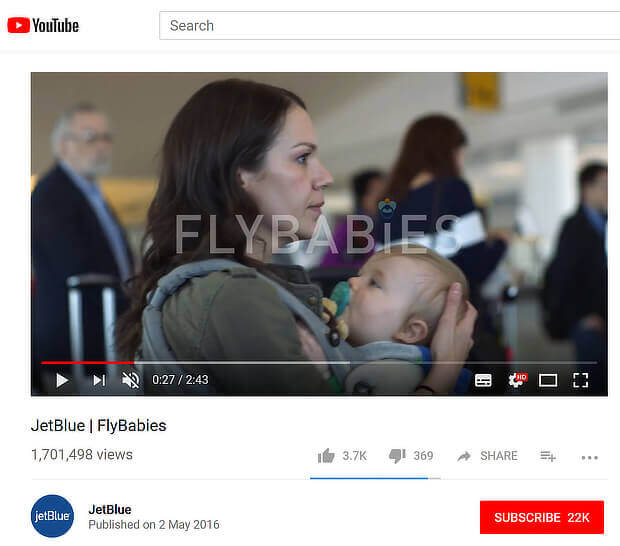 jetblue flybabies screenshot