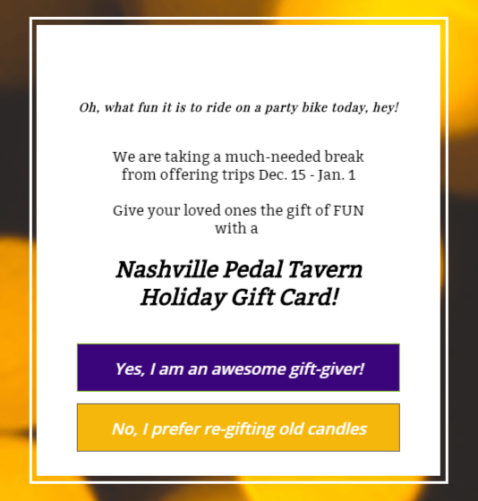 Pedal tavern nashville coupon code