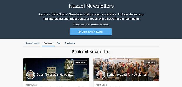 nuzzel是一种新闻策划工具