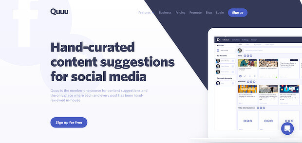 quuu offers human content curation tool