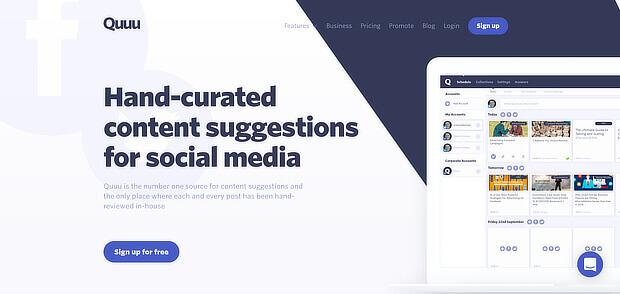 quuu提供人类内容管理工具