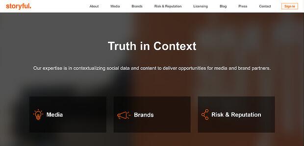 故事 - 社交媒体的内容策划