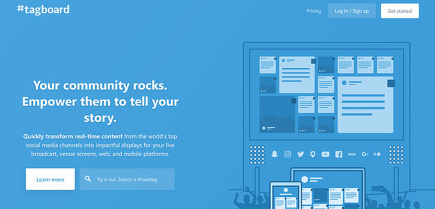 tagboard提供社交内容管理和显示