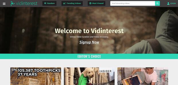 使用vidinterest作为视频内容管理工具