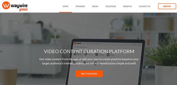 视频内容管理工具 -  waywire