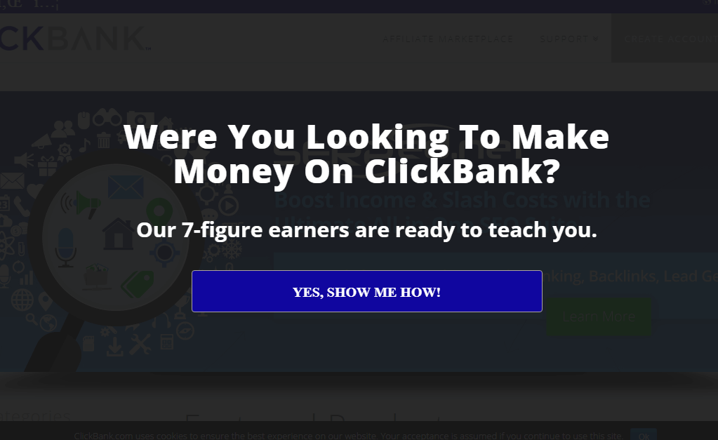 ClickBank recovers abandoning visitors with an exit-intent optin