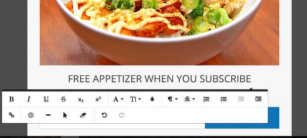 wordpress menu custom link popup - edit headline
