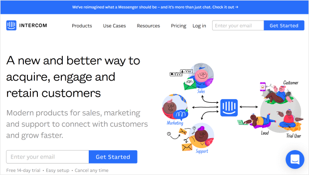 intercom lead generation software