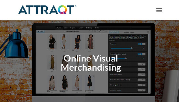 Attraqt offers online personalization for visual merchandising