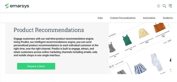 Ecommerce Product Recommendation Engine Emarsys