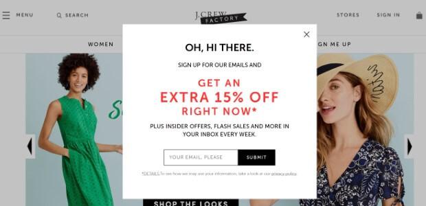J Crew sales promotion example