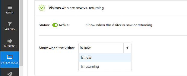 new vs returning options