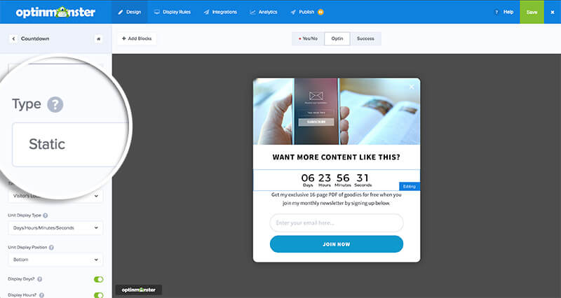 Static Countdown Timer