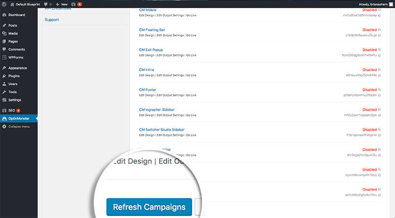 Refresh Campaigns in Plugin