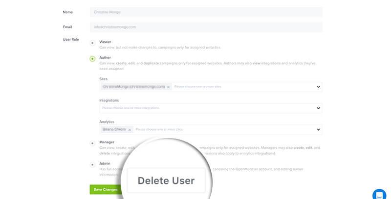Delete User