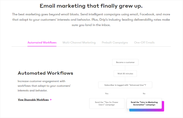 drip - email marketing service