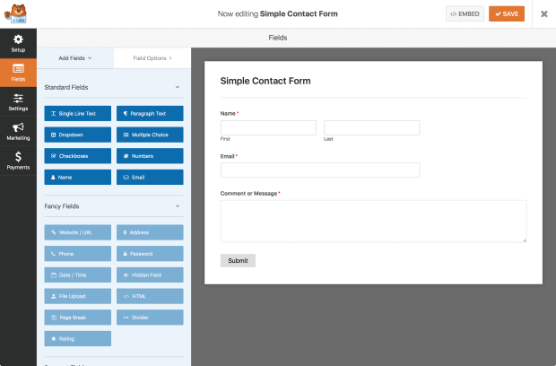 wpforms - best drag and drop wordpress form plugin