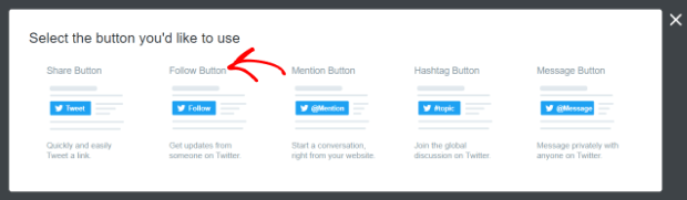 select follow button