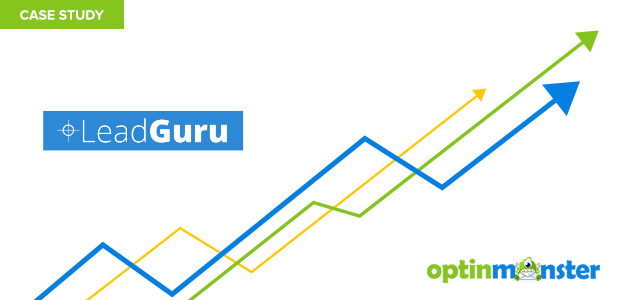 Lead Guru uses OptinMonster to convert 86% of visitors into subscribers.