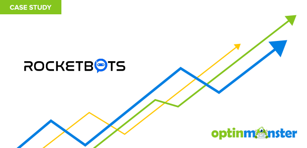 Rocketbots uses OptinMonster to increase their email list 680 percent