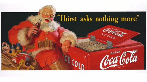 influencer marketing history santa clause