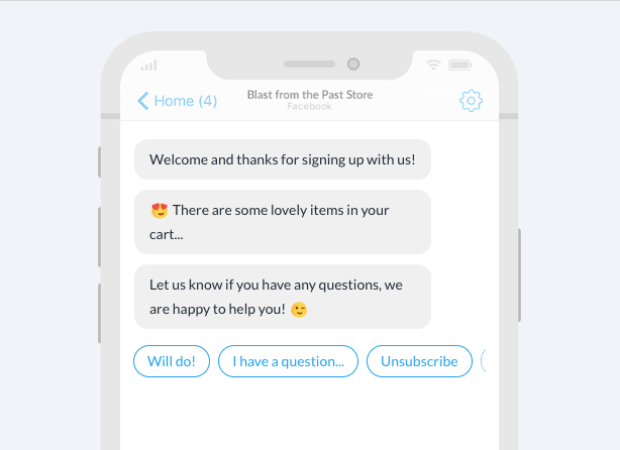 conversational commerce examples positive user experience