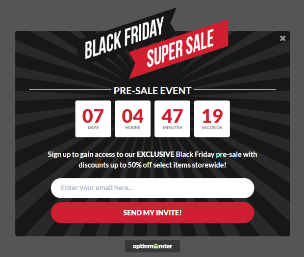updated black friday campaign