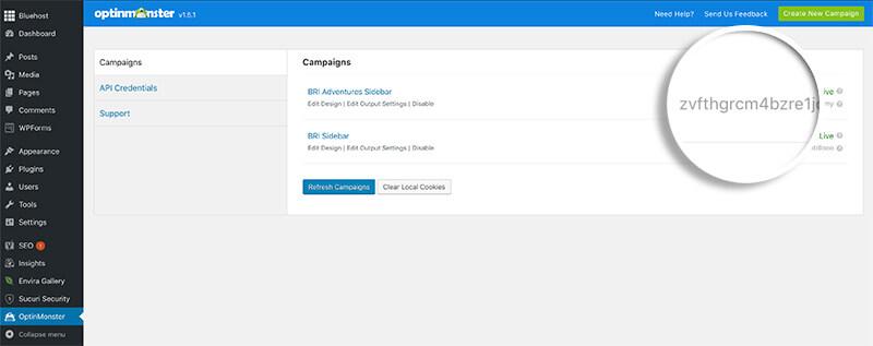WordPress Campaign ID