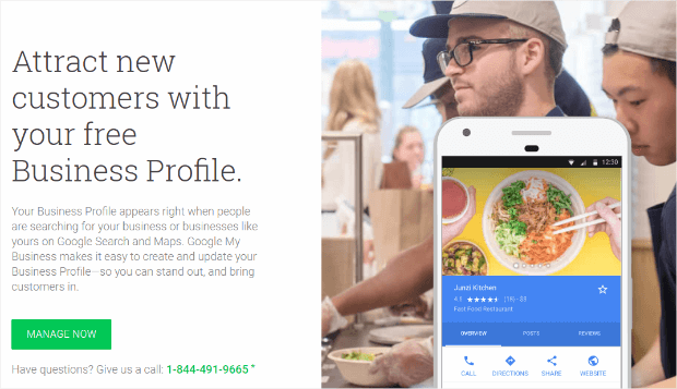 Google My Business manage now