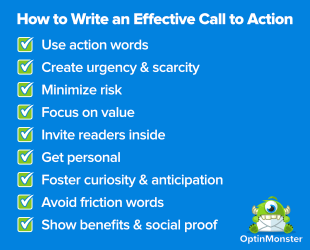 call to action examples facebook
