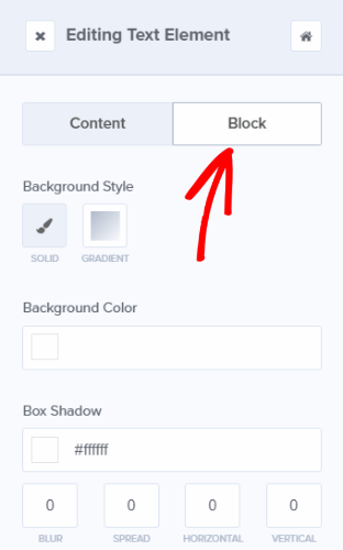 easily change the spacing of a block with the editing tools