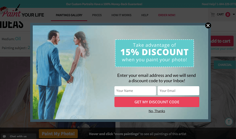 3.64% of visitors subscribed to email list with this campaign
