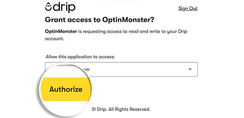 Drip Authorize