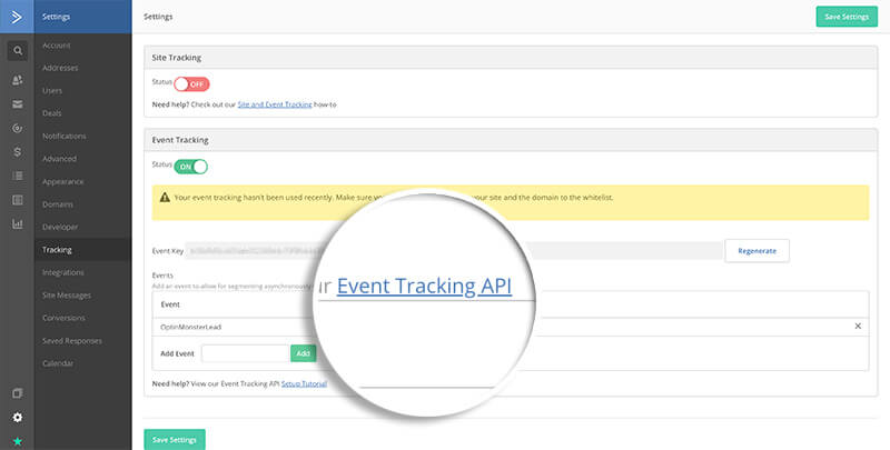 ActiveCampaign Click Event Tracking API