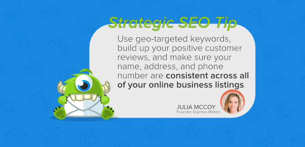 julia mccoy express writers voice search seo tips