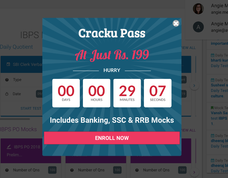 CrackU used a countdown timer to increase urgency.