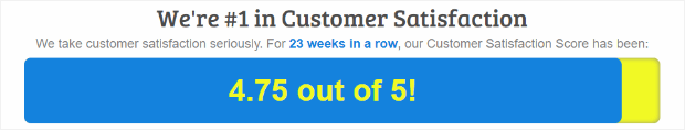 customer satisfaction score using buttons