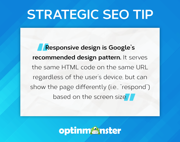 seo tip google responsive web design mobile-first indexing