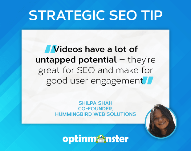 seo tips shilpa shah use video for user engagement