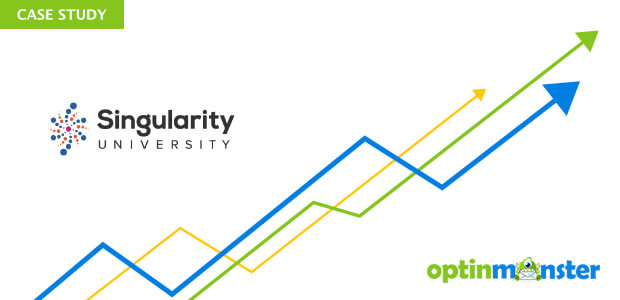 Singularity University uses OptinMonster to increase leads.